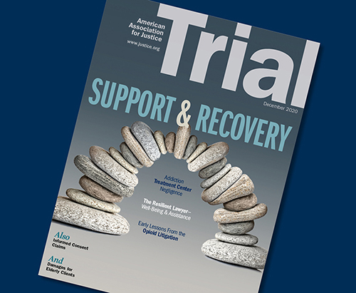 December 2020 Trial cover with the theme Support and Recovery
