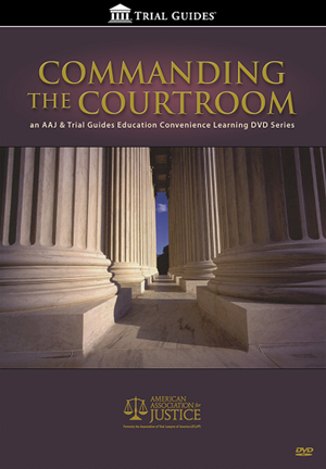 Commanding the Courtroom DVD white pillars with title
