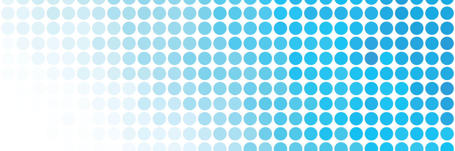 Radiated pattern of blue dots.