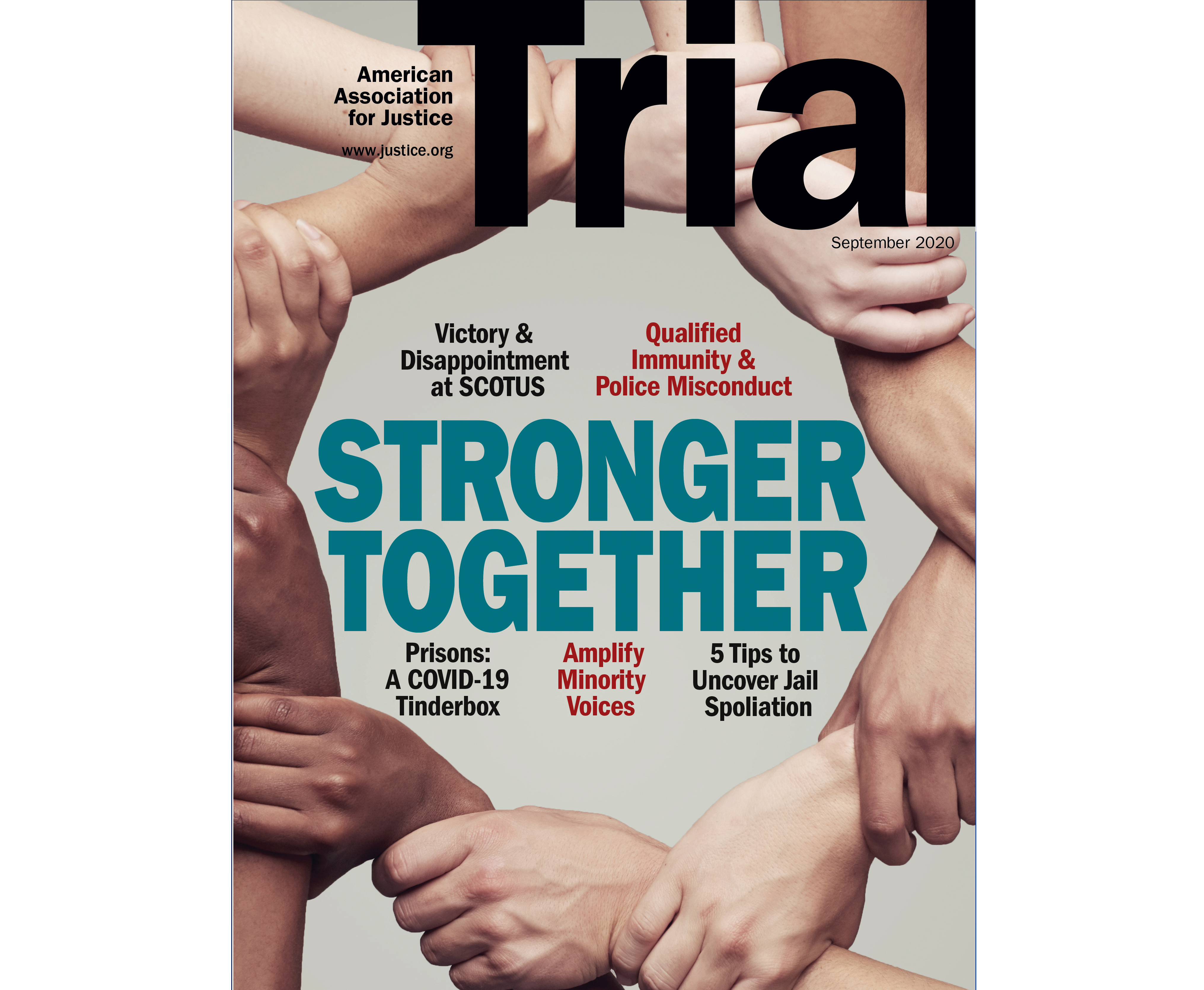 September 2020 Trial cover with the theme Civil Rights