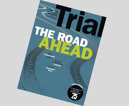 April 2021 Trial cover with the Theme Transportation